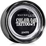 Maybelline New York Lidschatten Eyestudio Color Tattoo 24h Timeless Black 60 / Gel-Cream Eyeshadow Schwarz metallic, langanhaltend, 1 x 4 g
