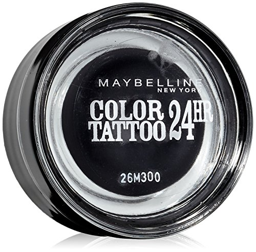Maybelline New York Lidschatten Eyestudio Color Tattoo 24h Timeless Black 60 / Gel-Cream Eyeshadow Schwarz metallic, langanhaltend, 1 x 4 g (Eyeliner Tattoo-schwarz)