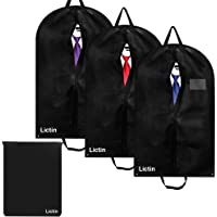 Lictin 3 pcs 100*60cm Breathable Garment Suit Clothes Covers Bags, 40 inch Suit Covers Foldable Bag with Handles and 1…