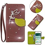 Nokia 2.1 Case,Series Case Slim Premium PU Leather Wallet Case Case Slim With Kickstand And Credit Card Slot Cash Holder Flip Case Compatible With Nokia 2.1 Brown
