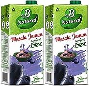 B Natural Masala Jamun Juice, 1L (Pack of 2)