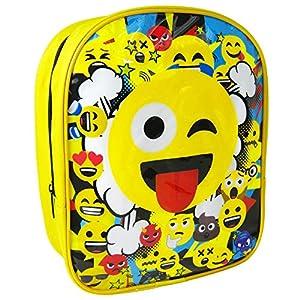 Emoji 1000HV-6586 – Mochila, 25 cm, diseño de emoticonos, Color Amarillo