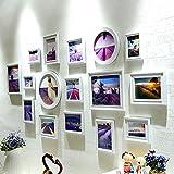 Galleria fotografica X&L Attaccatura di parete di foto semplice cornice moderna parete decorazione idee soggiorno Lavanda combinazione...