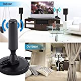 Ocamo High Definition Digital Freeview Indoor TV Antenna Aerial Ariel with Magnetic Base