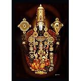 7 Hills Store Hrudhaya Lakshmi with venkateshwara Swamy in a Photo Frame (8 Inch x 12 Inch)