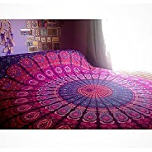 Con diseño de indio Mandala, Indian Hippy tapiz de pared bohemio, colcha de tradicional India