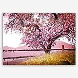 !!! SENSATIONSPREIS !!! ge Bildet hochwertiges Leinwandbild Naturbilder Landschaftsbilder - Frühlingsbaum - Natur Baum Rosa Pink - 30 x 20 cm einteilig | angebote der woche geschenke für frauen geschenke für männer | 2212 A