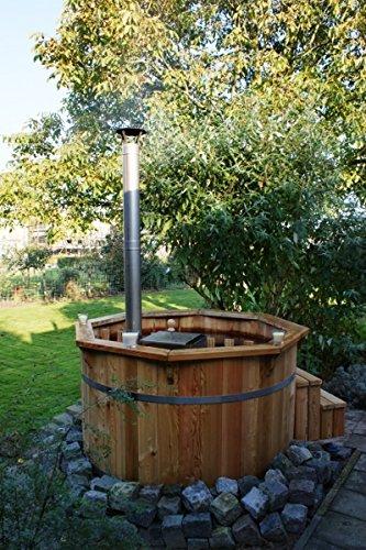 0a948946a493 Vasca tinozza a botte in legno completa di stufa a legna
