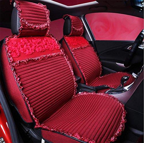 Vigko cuscino sedile auto universale, coprisedili auto traspiranti in tessuto per la moda, red