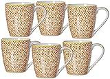 Ritzenhoff & Breker Kaffeebecher-Set Macara, 6-teilig, 360 ml, Rot