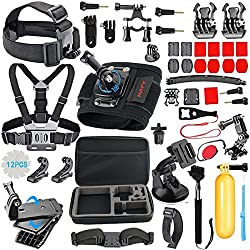Hapy Gopro Session Camera Accessory For Gopro Hero 6,5 Black, Hero Session,hero (2018),hero 5,4,3,3+,session,gopro Fusion,akaso,sjcam,dbpower,campark,sports Action Camera,accessories Kit