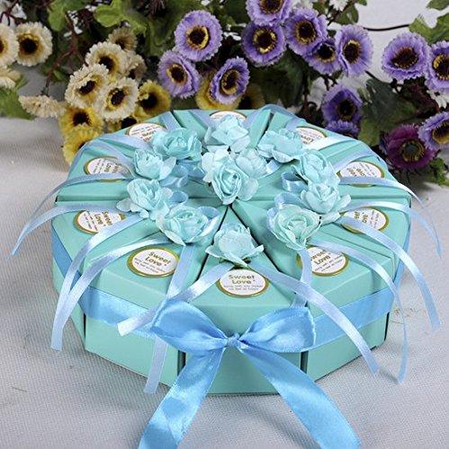 Bluelover 10Pcs Creative Cake Candy Box Hochzeitsfeier Cake Chocolate Gift Boxen - 1