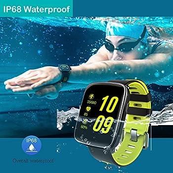 Yamay Smartwatch Bluetooth Smart Watch Uhr Mit Pulsmesser Armbanduhr Wasserdicht Ip68 Fitness Tracker Armband Sport Uhr Fitnessuhr Mit Schrittzähler,schlaf-monitor,setz-alarm,stoppuhr,sms-, Anruf-benachrichtigung Pushkamera-fernsteuerung Musik Für Android Und Ios Telefon 14