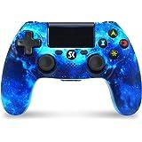 Manette pour PS4 Manette de Jeu Bluetooth à Double Vibration Six-Axis avec Pavé Tactile Joysticks Haute Précision pour PlaySt