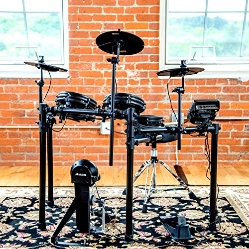 Alesis Drums Nitro Mesh Kit – Eight Piece All-Mesh Electronic Drum Kit With Super-Solid Aluminium Rack, 385 Sounds, 60 Play-Along Tracks, Connection Cables, Drum Sticks & Drum Key included