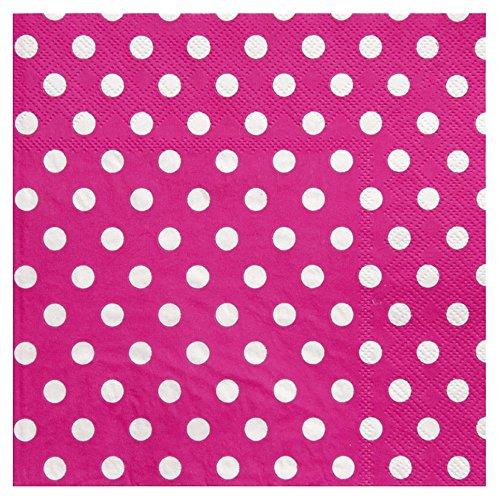 """Servietten \""""Punkte-Spaß\"""" 20er Pack pink"""