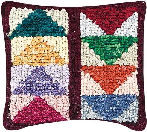 M C G Textiles Flying Geese Quilt Mates Locker Hook Pillow Kit