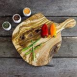 Natural Waney perfilate-Tagliere in legno di ulivo, 37-lunghezza 40 cm