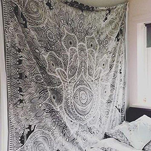 esclusivo-hamsa-mano-tapestry-per-goodluck-di-marca-raajsee-grigio-indiano-mandala-wall-art-bianco-e