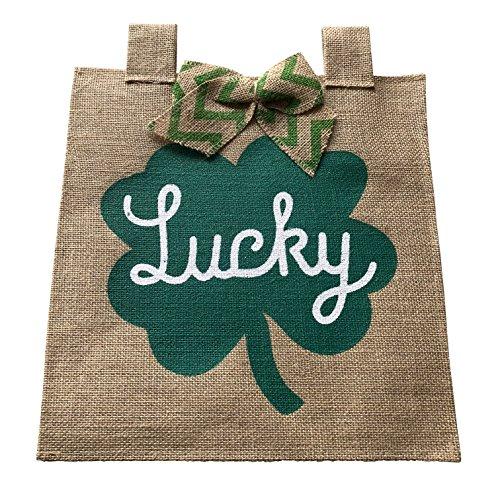 Jolly Jon St. Patricks Day Gartenflagge - Lucky Sackleine Flagge mit Band - St. Patrick's Day Party Dekorationen - Outdoor Dekoration Saisonale Feiertage Dekoration (Hut Dekorationen Lieferanten)