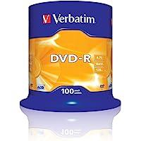 Verbatim 2330529 43549 4.7GB 16x DVD-R Matt Silver - 100 Pack Spindle