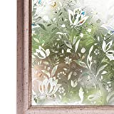 CottonColors 3D Adhesive-free Window Film, 23.6 In(W) x 78.7 In(L), Decorative Privacy Stained Glass Window Panels