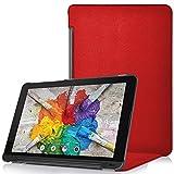 Forefront Cases® LG G Pad X II 10.1 Hülle Schutzhülle Tasche Case Cover Stand - Ultra Dünn & Leicht mit R&um-Geräteschutz (ROT)