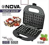 Nova NWM-2429 2 Slice Waffle Maker (Black)