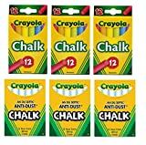Crayola Non-Toxic 3 Anti-Dust White Chal...