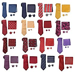 Sorella'z Men's Tie Gift Set for Men's (COMBO OF TWO GIFT SET)