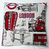 SCHÖNER LEBEN. Kissenhülle London England Flagge 40x40cm