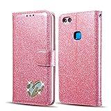 QLTYPRI Huawei P8 lite 2017 Case, Glitter Premium PU