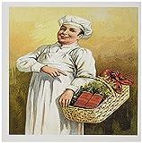 3drose Grußkarten, 15,2x 15,2cm, 12Stück, Vintage Chef Carry Korb der Hummer, die und Wein (GC _ 149262_ 2)
