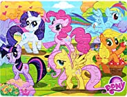 Wood Pony Jigsaw Puzzle 60 Pieces for Kids Age 3-5 Animal Puzzle with Floor and Poster