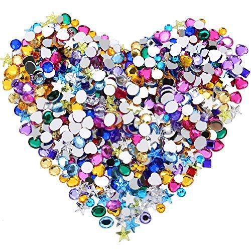 600 Pieces Gems Acrylic Craft Je...