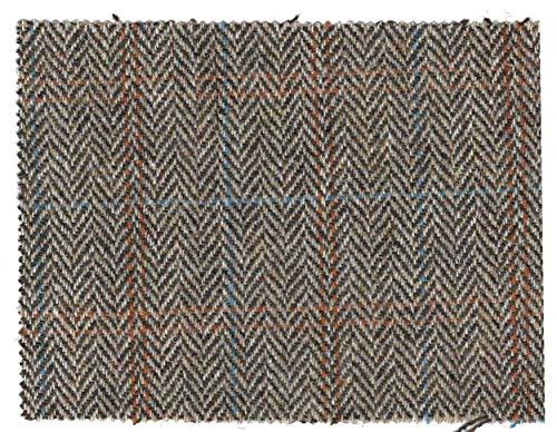 Walker and Hawkes - Harris-Tweed-Stoff - 100% echte Schurwolle - Sandweiß - 100 x 150cm - Wolle Walker