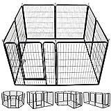 Yaheetech Welpenlaufstall Tierlaufstall Freigehege Hunde Laufstall aus 8 Panelen je Panel 80 x 100 cm