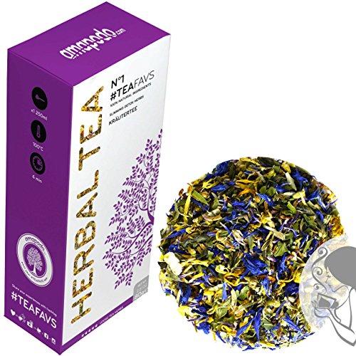 TISANA - 14 giorni tè disintossicazione cura - detox tea - Il tè verde, camomilla, trifoglio rosso, menta piperita, finocchio, fiordaliso, calendula, zenzero - amapodo TEAFAVS