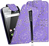MOBILEEXTRALTD{TM} FOR SAMSUNG GALAXY ACE S5830 S5830i S5839i PU LEATHER MAGNETIC FLIP CASE COVER POUCH +GUARD+STYLUS