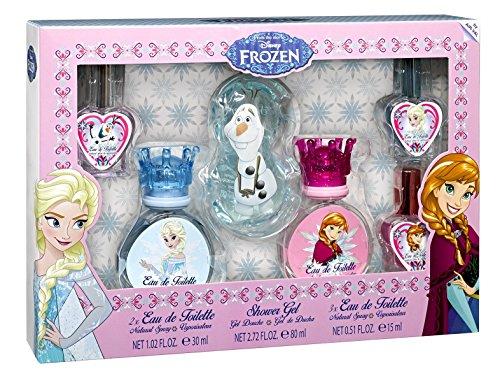 Disney Die Eiskönigin Disney Frozen / Die Eiskönigin / 6teiliges Pflege-Set mit Elsa, Anna und Olaf (5 x Eau de Toilette + 1 x Duschgel, 3 verschiedene Duftrichtungen), 1er Pack (1 x 1 Stück)