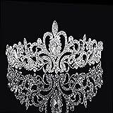 Musuntas demoiselle d'honneur nuptiale Diadème en cristal strass Couronne w / Comb Pin pour Wedding Party HG013