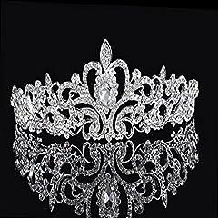 Idea Regalo - Musuntas Festa Nuziale Nuziale Damigella d' Onore Brillante Cristallo Strass Corona Fascia Tiara Hair band-hg013