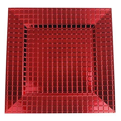 adratisch 33x 33cm sepcial Design Ladegerät Teller 33 cm Grid Red ()