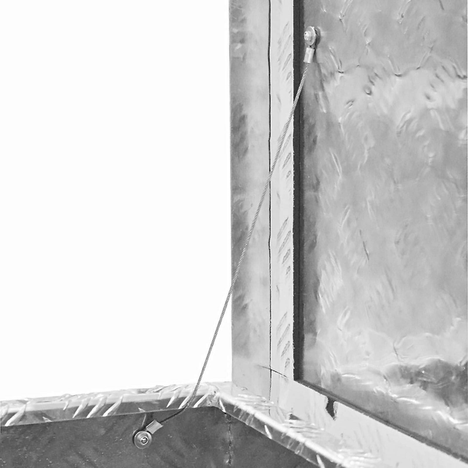 JUMBO Aluminium Riffelblech-Box Alu 70 Liter ALUT70 L 522 x B 375 x H 415 mm ALU-Box Kiste Transport-Box Tränenblech