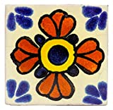 mexikanische Fliesen 5x5cm - Keramik handgefertigt - Fair Trade (Seville)