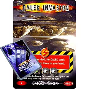 Doctor Who - Single Card : Exterminator 209 Dalek Invasion Dr Who Battles in Time Common Card