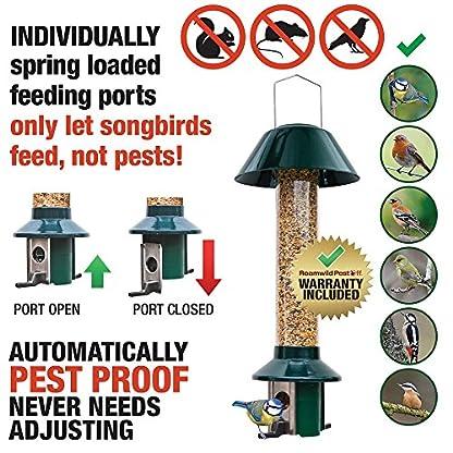 Squirrel Proof Wild Bird Feeder - Roamwild PestOff (Mixed Seed / Sunflower Heart Feeder) 2