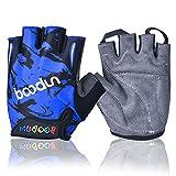 iwish Halb-Finger-Handschuhe für Kinder, dünn, Outdoor, Sport-Handschuhe, Fahrrad-Handschuhe für Kinder Medium blau