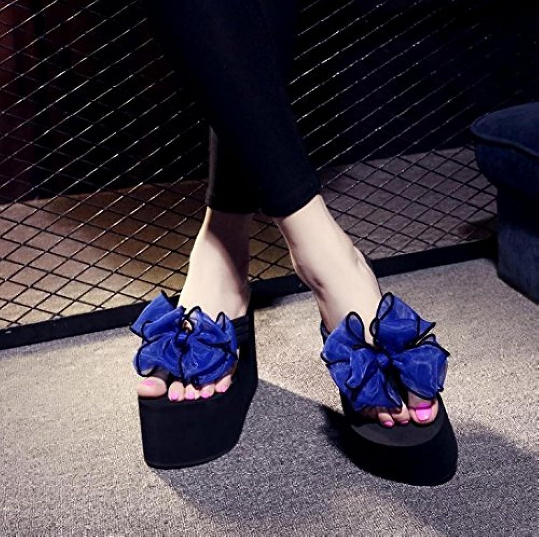 JIANXIN Sandalias Y Zapatillas De Fondo Plano Moda Mujer De Verano Joker One-Flat Flat Heel out Slipper Marea Femenina (Color : Negro, Tamaño : EU 36/US 5.5/UK 3) EU 36/US 5.5/UK 3|Negro