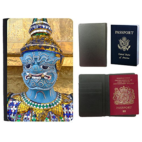 PU Pass Passetui Halter Hülle Schutz // F00016162 Thai Statue // Universal passport leather cover